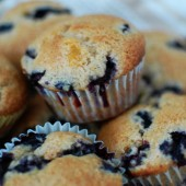 blueberry-peach-muffins