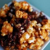 Pumpkin Spice and Chocolate Caramel Corn