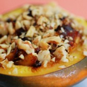 Acorn Squash Stuffed with Autumn Fruit Compote