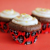 Chocolate Bacon Cupcakes with Caramel Frosting