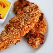 Crunchy Nut Encrusted Chicken Tenders