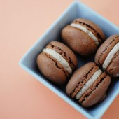 Chocolate Macaroons with Espresso Buttercream