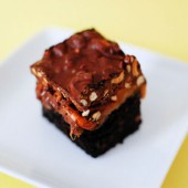 Sweet Salty Chewy and Crunchy Brownies