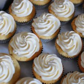 Yellow Cupcakes with Swiss Meringue Buttercream