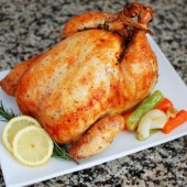 Lemon Garlic Roasted Chicken