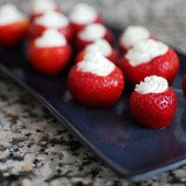Herbed Goat Cheese Stuffed Strawberries