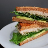 White Bean and Avocado Sandwich