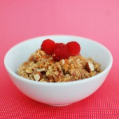 Raspberry Almond Coconut Breakfast Quinoa
