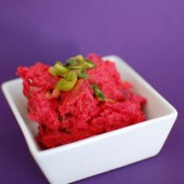 Mashed Sweet Potatoes with Beets
