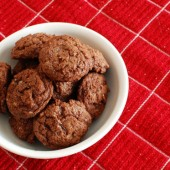 Triple Chocolate Salted Cookies