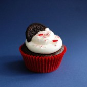 Candy Cane Chocolate Oreo Cupcakes