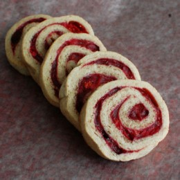 Cranberry Swirl Cookies