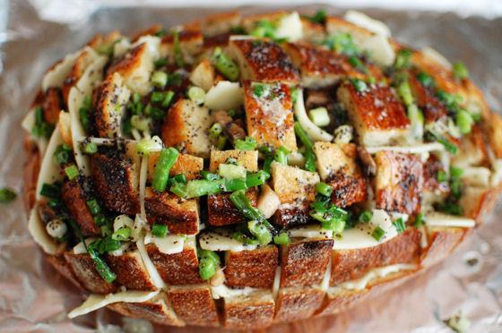 Cheesy Mushroom Pull Apart Bread
