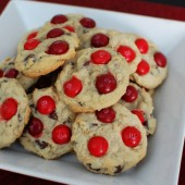 Cherry M&amp;M Cookies