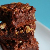 Salted Caramel Pecan Brownies
