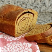 Pumpkin Cinnamon Swirl Bread
