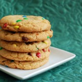 Giant M&amp;M Cookies