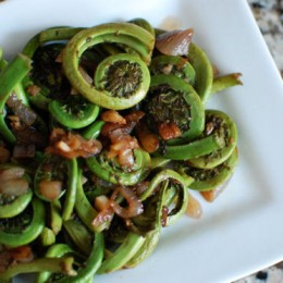 Balsamic Fiddleheads