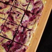 Blueberry Basil Goat Cheese Cake Bars