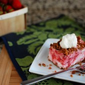 Frosted Strawberry Squares