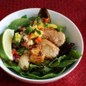 Grilled Chicken Salad with Mango Salsa