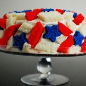 Patriotic Quake Cake