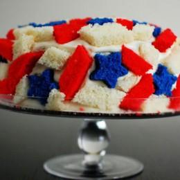 Patriotic Quake Cake