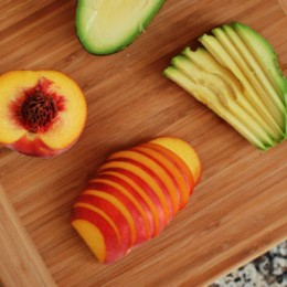Sliced Peach and Avocado
