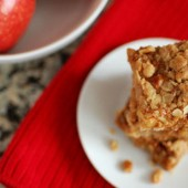 Apple, Oat, Dulce De Leche Bars