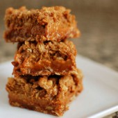 Pumpkin Dulce de Leche Oat Bars