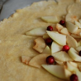 Apple Pear Cranberry Crostata