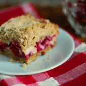 Cranberry Orange Ginger Cream Cheese Crumb Bars