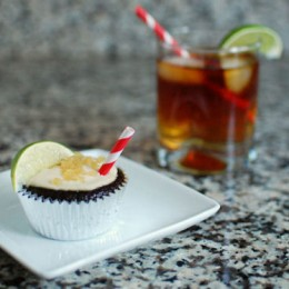 Dark and Stormy Cupcakes