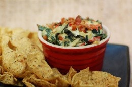 Creamy Red Pepper and Collard Greens Dip