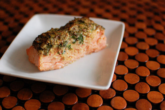 Herbed Mustard Salmon