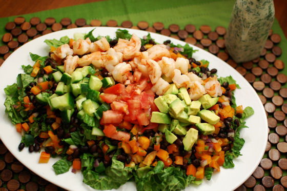 Mexican Cobb Shrimp Salad