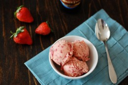 Strawberry and Beer Sorbet