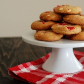 Maraschino Cherry White Chocolate Chip Cookies