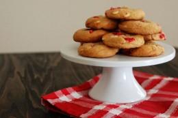 Maraschino Cherry White Chocolate Chip Cookies
