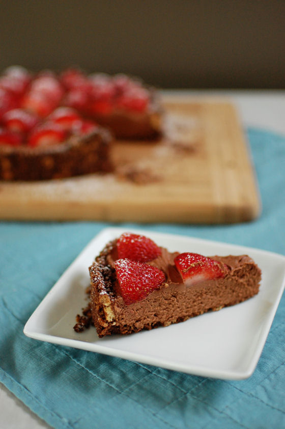 Chocolate Goat Cheese Mousse Tart