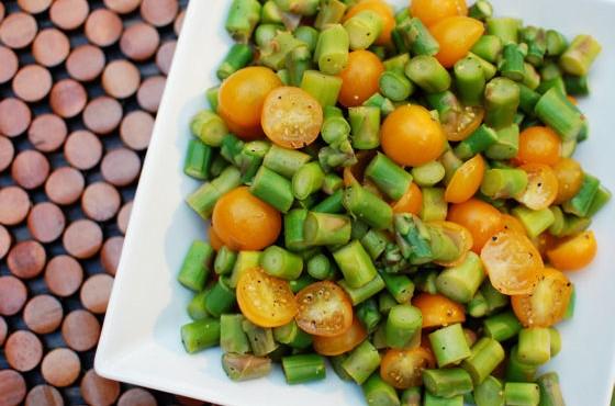 Lemon Pepper Asparagus Salad