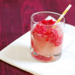 Raspberry Sorbet and Ginger Beer Floats