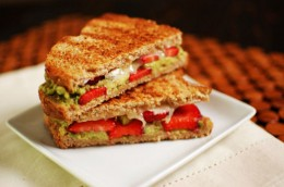 Strawberry, Avocado, Goat Cheese Sandwich