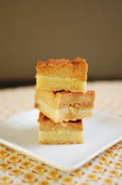 Pumpkin Salted Caramel Snickerdoodle Bars