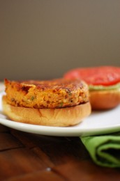 Roasted Garlic Chipotle Sweet Potato Burger