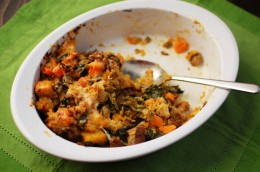 Sausage, Kale, and Butternut Squash Stuffing