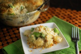 Crab and Asparagus Gnocchi and Cheese