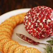 Pomegranate Rosemary Cheese Ball