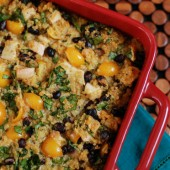 Mexican Chicken Quinoa Casserole